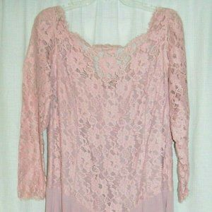 Pink Mauve Lace Polyester Evening Mother of Bride